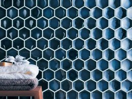 Academy Tiles releases glossy hexagonal mosaics featuring a concave surface