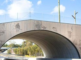 Perforated anti-throw screens fabricated for overpass bridges