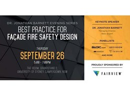 Best Practice for Facade Fire Safety Design event on 26 September