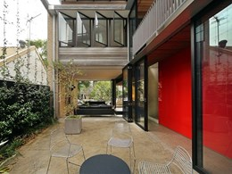 Viridian glazing central to design at Sydney architect's free breathing terrace home