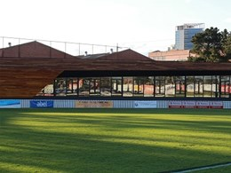 Stylish timber and glass design helps architect exceed client brief at Port Melbourne sports facility