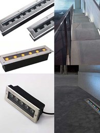 Turn your exteriors into a work of lighting art with IP67 LED linear inground uplights