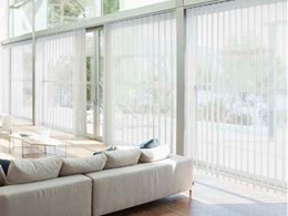 New stylish and safe vertical blinds added to Luxaflex Window Fashions range