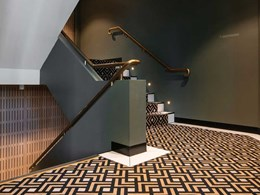 Luxe carpet complements high-end finishes at stylish Melbourne event venue