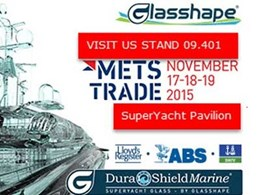 Glasshape to announce new products at Amsterdam marine equipment trade show