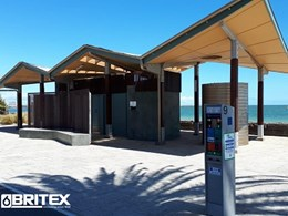 Middle Park Foreshore amenities block designed with compliant Britex sanitary fixtures
