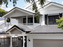 Pre-war Queenslander transformed into modern farmhouse-style home