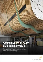 Getting it right the first time: The importance of prescriptive specification for fire-rated interior linings