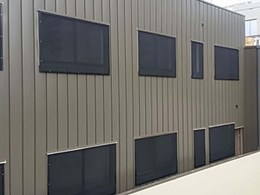 Invisi-Gard screens withstand heat exposure during building fire