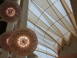 Custom fabric atrium installed at Jupiter's Gold Coast