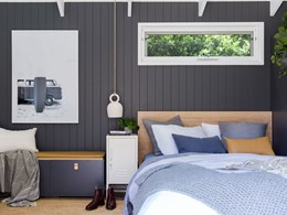 Tiny home at family residence features Easycraft's EasyVJ wall panels