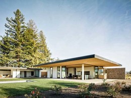 Architect uses red cedar and local stone to create eco-friendly Napa Valley home