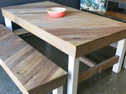 Recycling old timber into long-lasting outdoor furniture