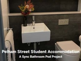 262 Sync bathroom pods delivered to Pelham Street Student Accommodation