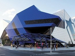 Geberit Pluvia allows retractable roof at Perth Arena