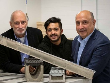 Orca's Alan Travers with Deakin's Dikshit Modgil and Dr Riyadh Al-Ameri