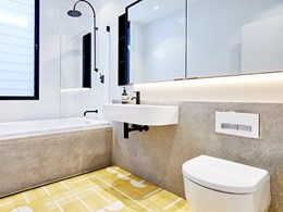 Bathroom floorspace maximised with Geberit concealed cisterns
