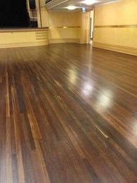 Yarra city council contracts Livos to sand and oil Fitzroy Town Hall hardwood floor