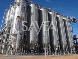 KOMBI platforms and KATT ladders provide safe access in Ridley's grain silos