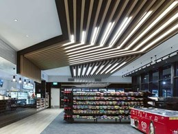 Cadway Projects 'play with' lit maxi beams in roadhouse reno