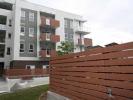 Futurewood EnviroSlat weatherproof cladding replaces timber at Ergo Apartments