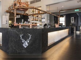 Refreshing new look for The Stag Bar with Beaumont Tiles