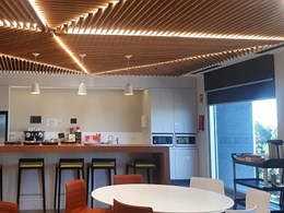 GHDWoodhead creates dynamic slat and beam ceilings