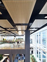 Floating acoustic panels in BVN's prize winning fit-out