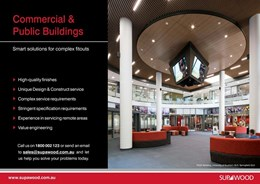Commercial & public buildings, smart solutions for complex fitouts