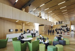Distinctive warmth of timber in award winning interior at Ravenswood School