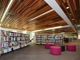 Feature timber ceiling solves acoustics, access and aesthetics