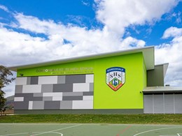 Cemintel cladding references local landmark on Gordonvale school's feature wall