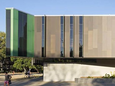 James Cook Educational Facility featuring Symonite HD facade