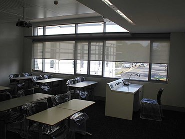 Blinds installed at Western Sydney University