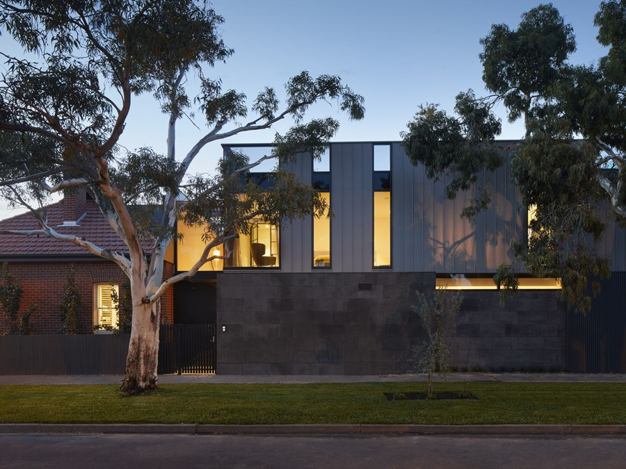 A home with two very different architectural styles