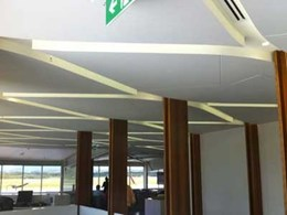 Ultraflex customises MDF ceiling panels to meet design intent at Virgin Lounge Gold Coast