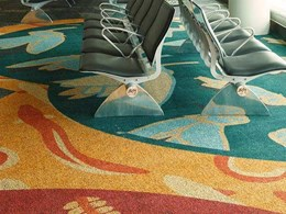 Custom Ontera carpet tiles at Wellington Airport feature local artists' designs
