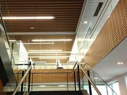 Ultraflex's wall and ceiling panels specified for Workzone office interior project in Perth